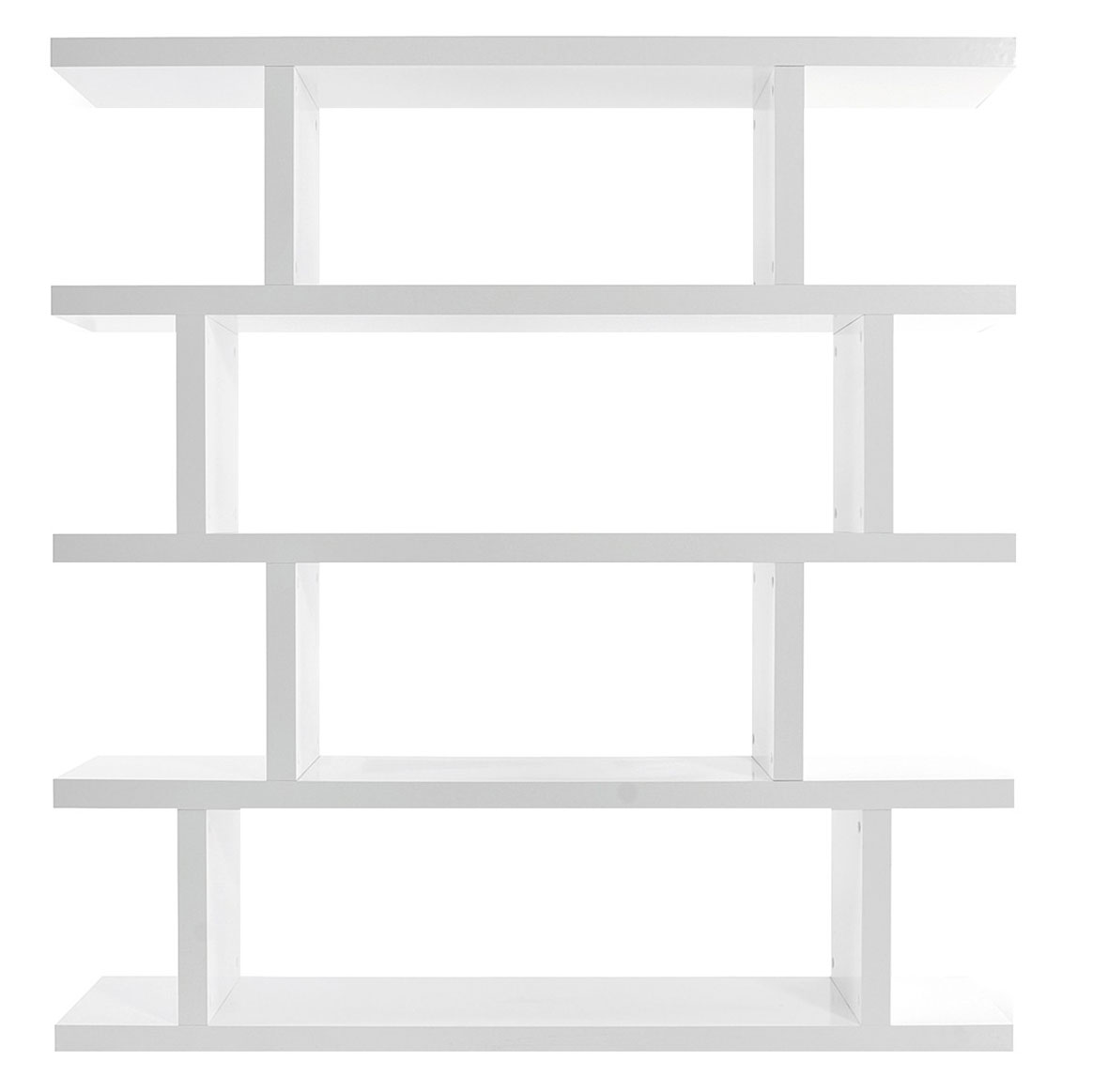 Step Modern Shelving Unit in Pure White