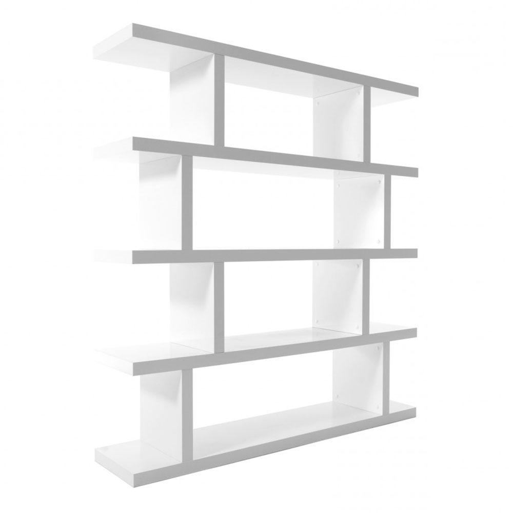 Step Modern Bookcase in Pure White
