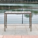 Stone Modern Outdoor Bar Table - Front View