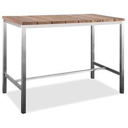 Stone Indoor Outdoor Modern Bar Table by Whiteline