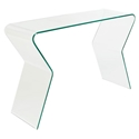 Modern Console Tables - Stratus Solid Glass Console Table