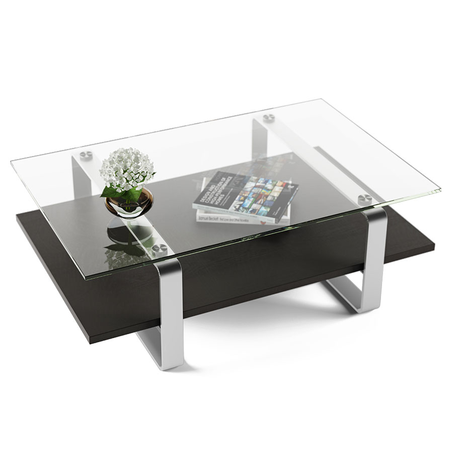 Call To Order Bdi Stream Contemporary Coffee Table In Charcoal