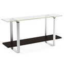 BDI Stream Modern Charcoal Console Table