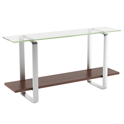 Stream Contemporary Chocolate Console Table by BDI
