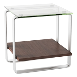 BDI Stream Contemporary Chocolate End Table
