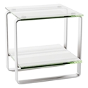 Stream Modern Glass End Table by BDI
