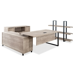 Stromstad Modern Natural-Colored Right Desk Set