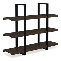 Stavanger Modern Dark Brown Low Bookcase