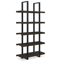 Stavanger Modern Dark Brown Tall Bookcase