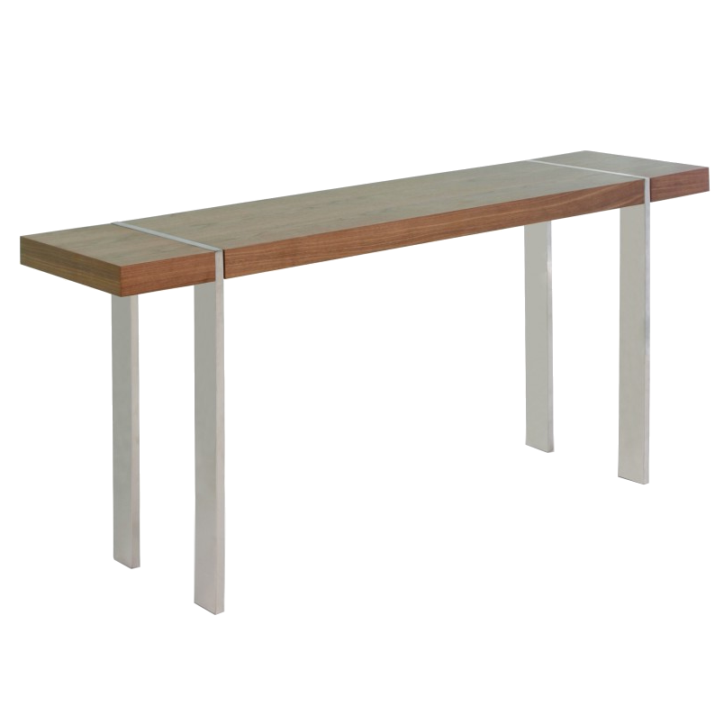struttura walnut modern console table - Modern Console Tables