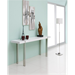 Sinclair White + Metal Contemporary Console Table