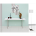 Sinclair White + Metal Modern Console Table