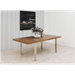 Struttura Walnut + Metal Modern Dining Table