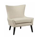 Stuttgart Contemporary Beige Linen Chair