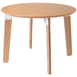 Sudbury Contemporary Round Table by Gus Modern in Natural Oak