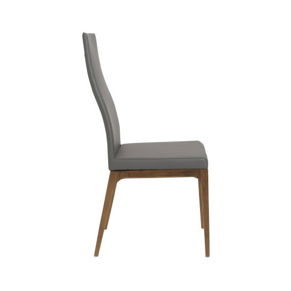 sullivan modern high back side chair side view