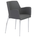 Sunny Modern Gray Arm Chair by Euro Style