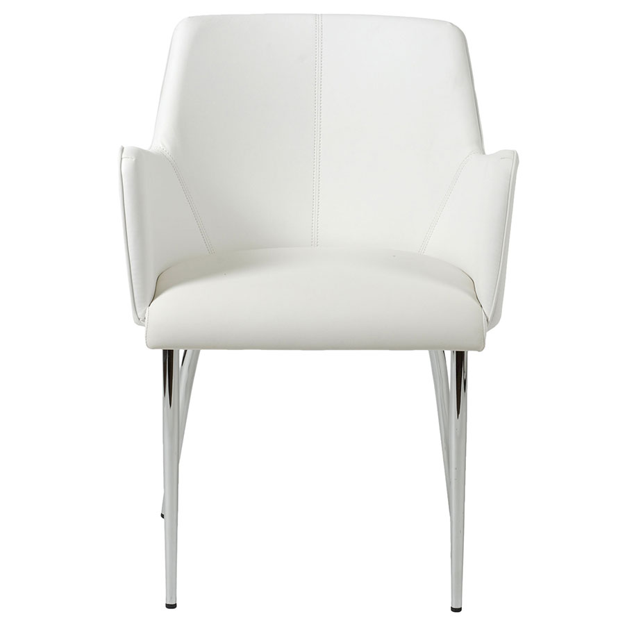 Modern dining chairs summit white arm chair eurway for White dining chairs with arms