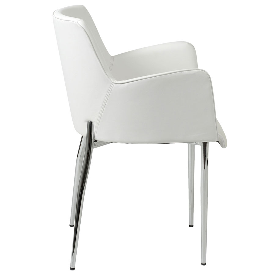 Modern dining chairs summit white arm chair eurway for Arm chair white