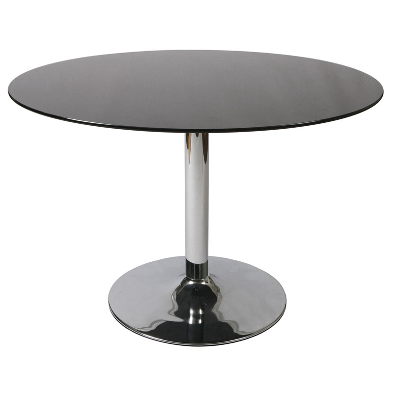 Sundance Modern Round Black Glass Dining Table