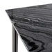 Sussur Black Marble + Polished Graphite Modern Coffee Table - Detail