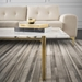 Sussur White Marble + Polished Gold Stainless Steel Modern Coffee Table - Room Setting
