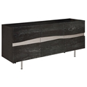 Swanson Large Gray Oxidized Oak + Satin Metal Modern Sideboard + TV Stand