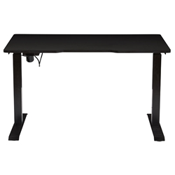 Swift Modern Black Standing Desk by Unique Furniture