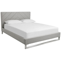 Switch Contemporary Bed in Parliament Stone - Diagonal Pattern