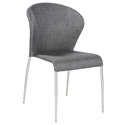 Star Modern Charcoal Fabric Side Chair