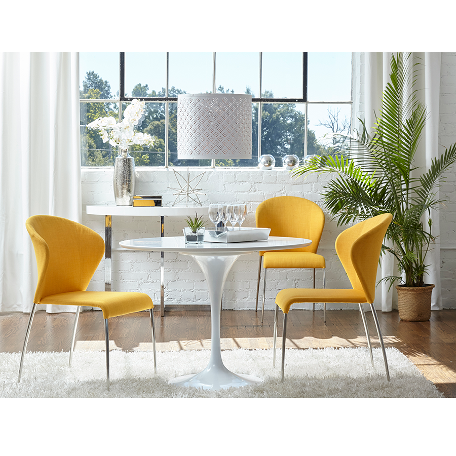 chair metal dining yellow store with pad buy bert chairs