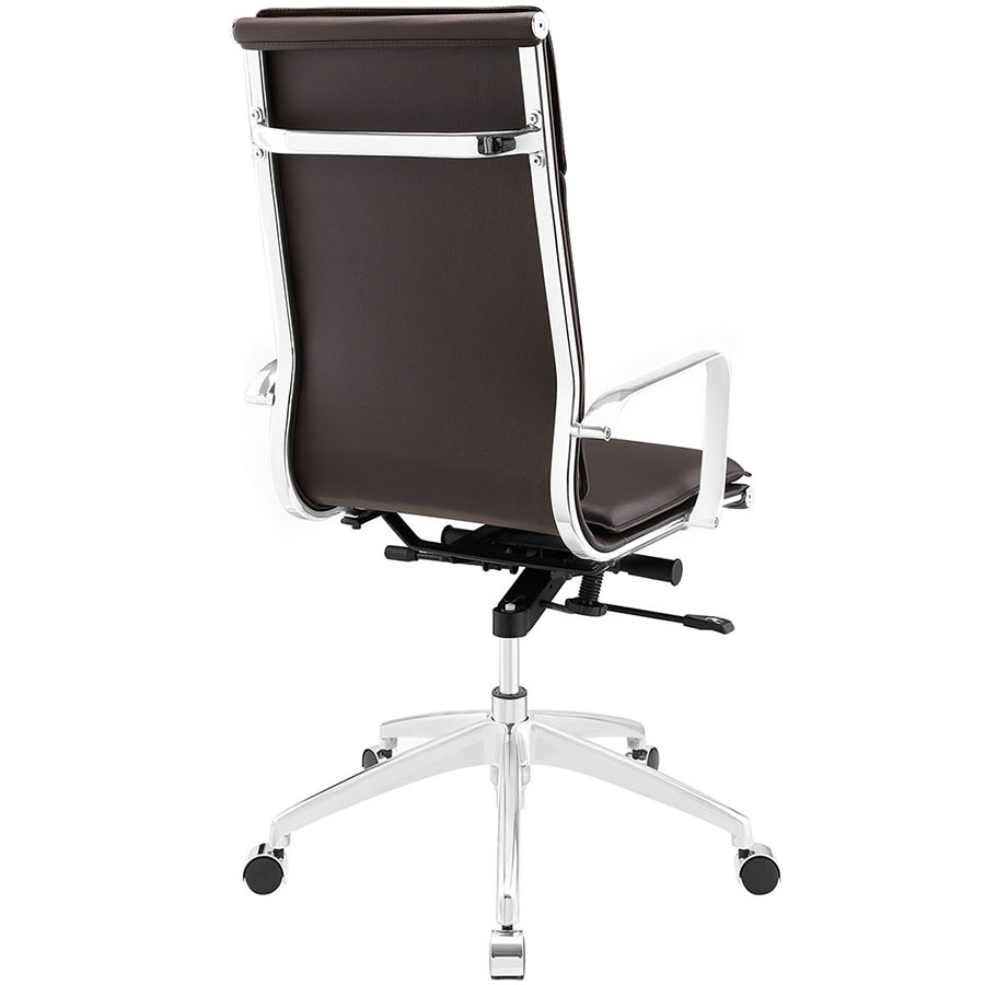 Sydney Brown Modern High Back Office Chair - Back View