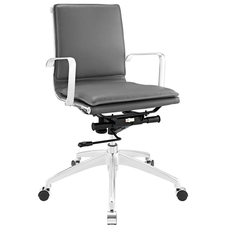 Sydney Gray Modern Low Back Office Chair