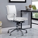 Sydney White Contemporary Low Back Office Chair