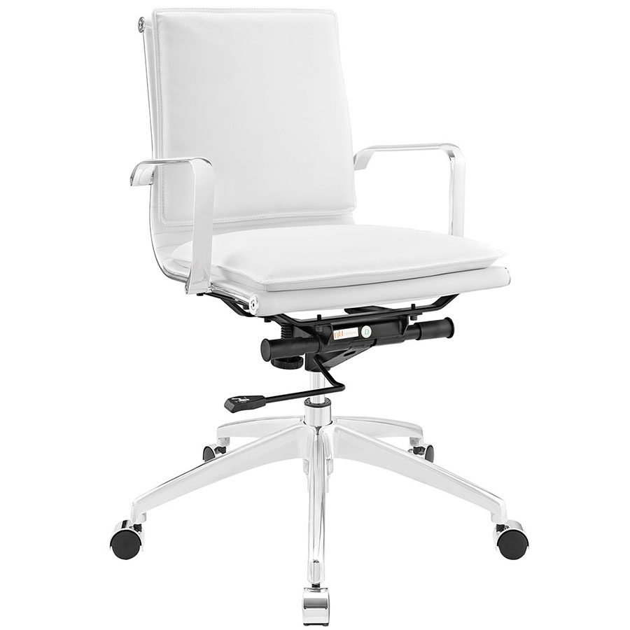 Sydney White Modern Low Back Office Chair
