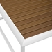 Sylvie Modern Outdoor Coffee Table - Top Detail