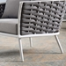 Sylvie Modern Indoor Outdoor Chair in White + Gray