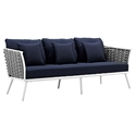 Sylvie Modern Navy+ White Outdoor Sofa