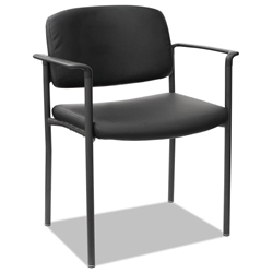 Sylvio Modern Faux Leather Stacking Guest Chair