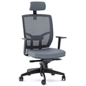 BDI TC-223 Gray Fabric Office Chair