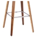 Tacoma Modern Walnut + Brown Counter Stool - Base Detail