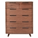 Tahoe Modern Walnut High Chest of Drawers