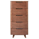 Tahoe Modern Walnut Narrow Chest of Drawers