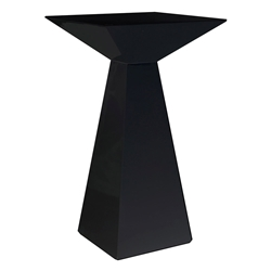 Euro Style Tad B Modern Bar Table in Matte Black Lacquer Finish