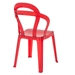 Talbott Red Plastic Transparent Modern Dining Chair