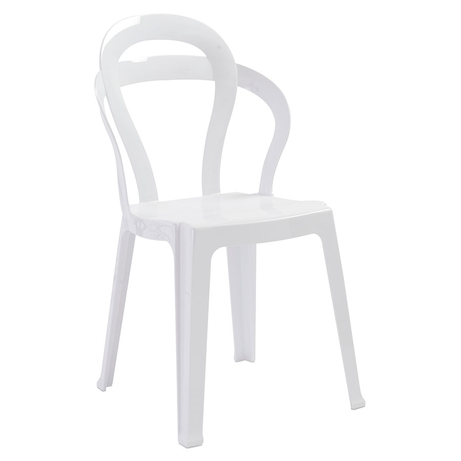 Talbott White Plastic Modern Dining Chair