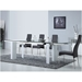 Talco White Lacquer + Clear Glass Modern Extension Dining Table - Lifestyle