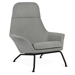 Gus* Modern Tallinn Chair in Copenhagen Iron Fabric