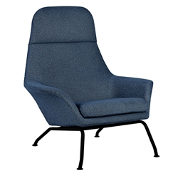 Gus* Modern Tallinn Chair in Copenhagen Sea Fabric