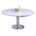 Tallinn Modern Ceramic + Metal Extension Table